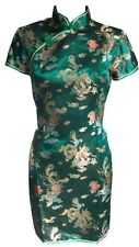 Silky Qipao Chinese New Year Women's Evening Cheongsam Traditional Costume Dress
