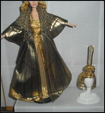 OUTFIT BARBIE ELIZABETH TAYLOR CLEOPATRA GOWN CLOAK HEADPIECE SHOES ENSEMBLE