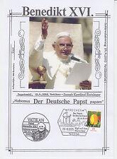 """Benedikt XVI. - Erinnerungsblatt """"Besuch in BRD / Vigil auf dem Marienfeld"""" 2005"""