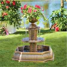 Garden Planter Water Fountain Outdoor Antique Tier Patio Yard Decor Home Bronze