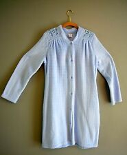 "CROFT & BARROW Women's Plush Snap Duster Robe ""CLOUD DANCER"" Blue  Med"