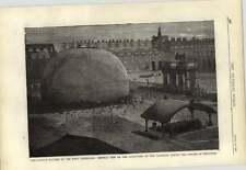 1878 inflación de globo gigante Patio de Honoré exposición de París