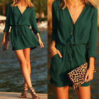 Plus Size Women V-neck Long Sleeve Chiffon Tops Loose Blouse T-shirt Mini Dress