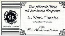 Simplicissimus Tanz-Kabarett Köln 4 UHR-TANZTEE Historische Reklame von 1927