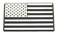 USA All Chrome Flag Car Emblem - Metal!