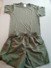 USMC Military Issue Soffe Green Shorts & Tshirt set