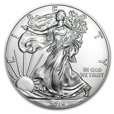 2016 Silver American Eagle 1 oz Bu - Fine One Dollar American Silver Eagle Coin