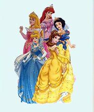 Disney princesse cendrillon ariel belle large autocollant mural chambre cadeau d'anniversaire