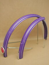 Vintage NOS Bicycle Purple w/ White Stripes Fender Set Raleigh? Schwinn?