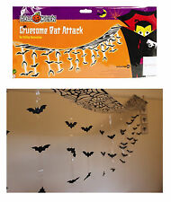 Halloween Bunting Bat Attack Garland Party Decoration 3m 42 Bats