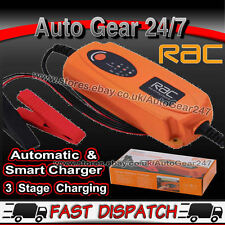 RAC 12v 1.2Ah-120Ah Smart Intelligent Automatic Car Van Bike Battery Charger