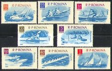 Romania 1962 Sports/Sailing/Boats/Rowing/Yachting/Canoeing 8v set (n32604)