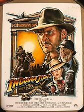Robert Bruno Indiana Jones And The Last Crusade Movie Art Print Poster Mondo HTF
