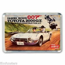 RETRO - JAMES BOND 1968 Toyota 2000  AIRFIX KIT ARTWORK - JUMBO FRIDGE MAGNET