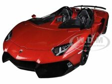LAMBORGHINI AVENTADOR J METALLIC RED 1/18 DIECAST MODEL CAR BY AUTOART 74673