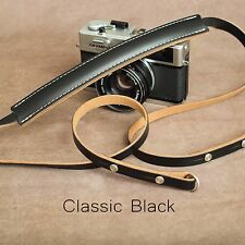 "The 1901 ""Steichen"" Leather Camera Strap - 115cm - Classic Black"