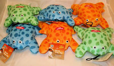 Lot Of 6 Plush Frogs Pet Dog Puppy Play Soft Toy with Squeaker Squeaky Sound