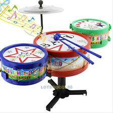 Baby Boy Girl Jazz Rock Drum Set Musical Educational Toy Kits Kids Xmas Gifts #L