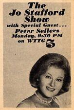 1964 WTTG TV AD~JO STAFFORD SHOW~GUEST PETER SELLERS~WASHINGTON,D.C.
