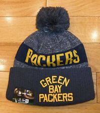 NWT NEW ERA Green Bay Packers Sport Knit Fleece Lined Mens Beanie Hat-OSFM @$25