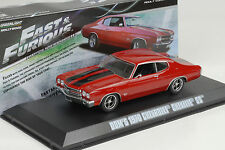 1970 DOM ausiliari CHEVROLET Chevelle SS red rosso Fast & and Furious 1:43 Greenlight