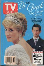 1992 TV Guide Diana & Charles 'Di vs Chuck' The Soap Opera NO LABEL!