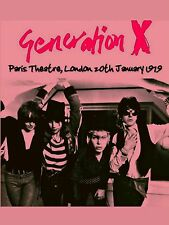"Generation x Paris 1979 16"" x 12"" Photo Repro Concert Poster"