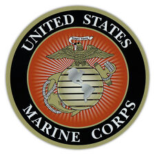 Round Magnet - USMC Marine Corp, Semper Fi, Military - Cars, Refrigerators