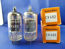 Matched Pair CV492/E83CC/ECC83 Siemens NIB # MILITARY # long smooth plates (6627