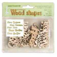 Wooden Shapes Words Merry Christmas Xmas Happy New Year Cardmaking Card Toppers