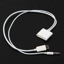 Micro USB to 30 Pin iPhone 4S Dock Audio Adapter Converter Charger Cable