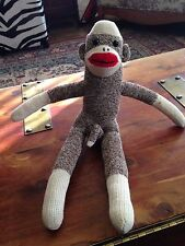 ANATOMICALLY CORRECT SOCK MONKEY  - HAND MADE IN USA  OOAK
