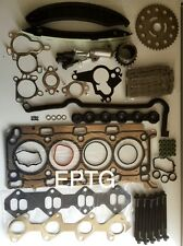 X TRAIL PRIMASTER VIVARO  2.0 HEAD GASKET SET BOLTS TIMING CHAIN KIT M9R 16V