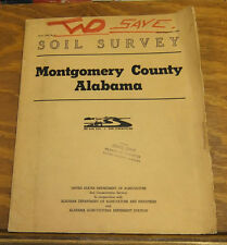 1960 Book/SOIL SURVEY OF MONTGOMERY COUNTY, ALABAMA   //AL