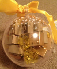 Lego 853345 Bauble Ball Christmas Ornament With Brown Yellow & Gold Bricks NWT