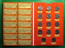 Russian 14 of 5 Rouble Coins Set 1016. Capital Cities Freed from Nazi UNC