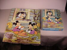 "Vintage Mickey Mouse ""Mud Pie "" puzzle Disney toy in orig. box complete 1982"