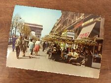 1963 Stamped Paris France Post Card Picture Cafe Street