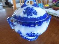 Tureen, antique, blue & white, damaged. 11.5cms across rim.