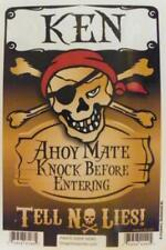 KEN Pirate Privacy Door Sign/Ahoy Mate/Knock Before Entering/Tell No Lies!