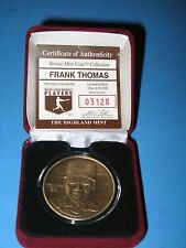 FRANK THOMAS - HIGHLAND MINT BRONZE COIN - NUMBERED W/CERTIFICATE
