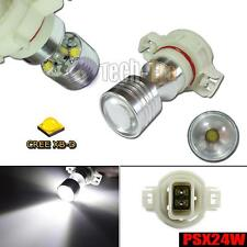 2pcs HID White PSX24W 2504 PG20/7 20W CREE LED Bulbs for DRL Driving Fog Lights
