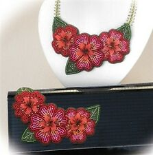 """Floral Elegance"" BEAD EMBROIDERY KIT - Suitable for complete beginners!"