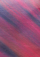 ACEO ORIGINAL PAINTING by Studio Angela Purple/Burgandy Abstract #4