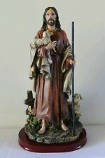 The Good Shepherd Statue 15 Inch Resin Jesus Christ Figurine in gift box