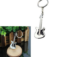 Fashion Silver Plated Keychain Mini Guitar Key Ring Keyring Chain Cool Cute Gift