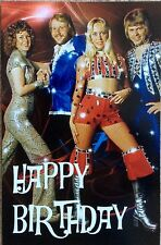 ABBA Birthday Greetings Card *Agnetha Mamma Mia Frida Fernando SOS