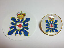 CANADIAN SECURITY INTELLIGENCE SERVICE:  GOLD PLATED BADGE &  FREE PHONE STICKER