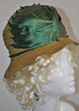 ANTIQUE HAT 1920's FLAPPER CLOCHE HAT SASSY ORIGINAL ROARING 20's LADY'S HAT