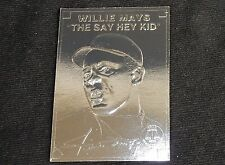 Willie Mays ~ Silver Foil Baseball Card, 1996, Clear Plastic Holder, w/Serial #
